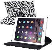 Apple iPad Air 2 Case met 360° draaistand Hoes Cover met Zebra Print Zwart / Wit