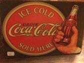 """Retro plaat """"Coca Cola"""""""