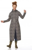 Long raincoat Mara cheetah midnight / ginger, size S