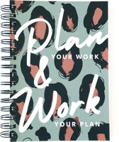 Black Friday 20%: Planner A5 Plan Your Work Leopard B