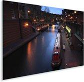Schitterende boten in de wateren van Birmingham Plexiglas 90x60 cm - Foto print op Glas (Plexiglas wanddecoratie)