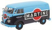 Volkswagen T1b Transporter 'Martini' 1959 - 1963 1:18 Schuco Blauw