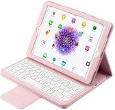 Shop4 - iPad 9.7 (2018) Toetsenbord Hoes - Bluetooth Keyboard Cover Lychee Roze