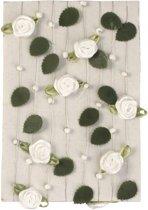 Rayher hobby materialen Bloemen Witte rozen slinger