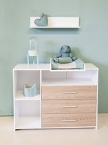 Bebies First - Babykamer Lars - Commode - Wit - Grijs