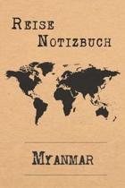 Reise Notizbuch Myanmar