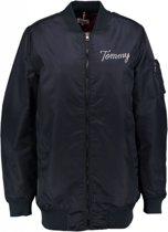 Tommy Hilfiger lange loose fit oversized bomber winterjas - Maat XS