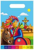 Indianen feestzakje 8 stuks