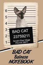 Bad Cat Balinese Notebook