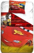 Disney Cars Lightning Mc Queen - Dekbedovertrek - Eenpersoons - 140 x 200 cm - Rood