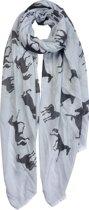 Clayre & Eef Sjaal 70x180 cm grijs