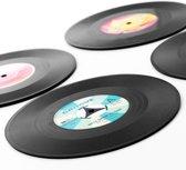 LP Onderzetters -vinyl - set van 4