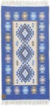 Kaira Vloerkleed - 60x125 - Blauw - by Okashi Heritage
