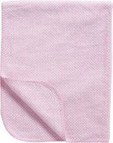 Meyco Stripy Pepita - Ledikantdeken 100x150 cm - Roze