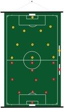 Sportec Oprolbaar Magnetisch Voetbal Coachbord 74 X 100 Cm
