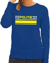 Politie logo sweater blauw voor dames 2XL