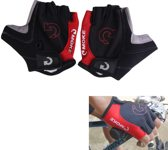 Fietshandschoenen - Zwart Rood - Unisex - Maat L