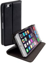 Stand Case Zwart iPhone 6 Plus Book Style Flip Cover Hoesje