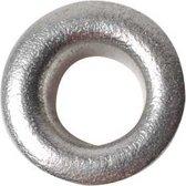 Eyelets d: 8 mm h: 3 mm zilver 50stuks