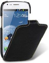 Melkco - leren Samsung S3 Mini hoesje flip case - zwart