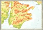 Kaart Atlas van het bijbelse continent - Saul de eerste koning van Israël