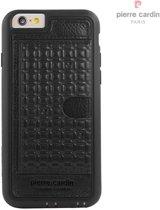 Pierre Cardin Backcover hoesje Zwart - Stijlvol - Leer - iPhone 6/6S  - Luxe cover