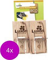 Luxan Muizenval Hout - Ongediertebestrijding - 4 x 2 stuks