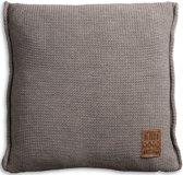 Knit Factory Uni Kussen - 50x50 cm - Taupe