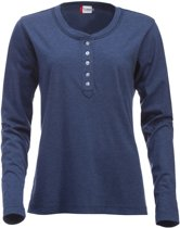 Orlando dames t-shirt blauwmelange xl
