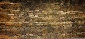 Fotobehang Muur | Bruin | 312x219cm