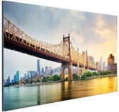 FotoCadeau.nl - Queensboro Bridge New York Aluminium 90x60 cm - Foto print op Aluminium (metaal wanddecoratie)