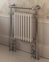 Traditionele radiator met handdoekhanger 940x600mm chroom wit - Eastbroek Isbourne