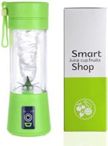 Oplaadbare JetBlender - Portable blender - Draadloos - Verse smoothies - 380 ml - Duurzaam - Healthy - Verse baby-/peuterhapjes - Blender Bottle - Groen
