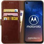 Rosso Element Motorola One Vision Hoesje Book Cover Bruin