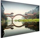 Chinese brug Aluminium 120x80 cm - Foto print op Aluminium (metaal wanddecoratie)