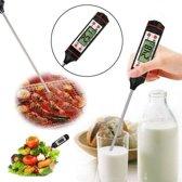 Digitale Multifunctionele Thermometer - vleesthermometer - kerntemperatuur vlees meten - temperatuur vloeistof meten - Voor de juiste temperatuur van je producten - Wit-zwart