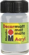 Decormatt acryl 15 ml - Zilver Metallic