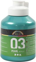 A-color Metallic acrylverf, groen, 03- metallic, 500 ml