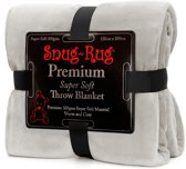 Snug-Rug Premium Throw Blanket - Pebble Grey