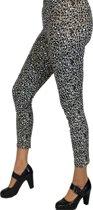 Grijze luipaard legging voor dames 40/42 (l/xl)
