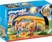 PLAYMOBIL Kerststal met heldere ster - 9494
