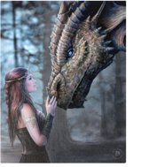Anne Stokes Once upon a Time canvas schilderij