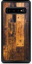 Galaxy S10 Hardcase hoesje Special Wood