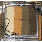 L'Oreal Infinite cut Eyeshadow Quad in gouden Khaki verleiding