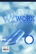 Work schrijfblok A4 - lijn - 70 grams - 100 vel - 5 stuks