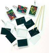 Kraskunst-sleutelhangers  (6 stuks per verpakking)