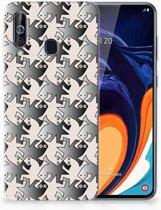Samsung Galaxy A60 Leuk Hoesje Salamander Grey