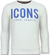 Local Fanatic ICONS - Leuke Sweater Heren - 6349W - Wit - Maten: XL
