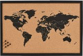 Kurk24 Kurk wereldkaart zeefdruk - 60 x 40 cm.