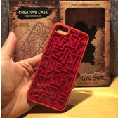 Labyrint Telefoonhoesje - Interactief Telefoonhoosje Met Labyrinth Spel - Entertaining Phone Case with Labyrinth - Iphone 7 / iPhone 8 - Rood